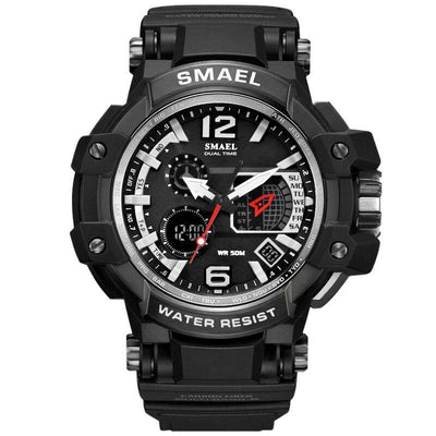 Smael 1509 Silver Chronograph Watch