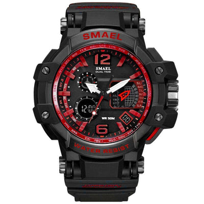 Smael 1509 Red Chronograph Watch
