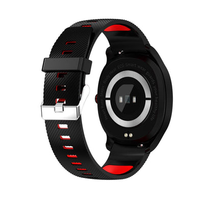 Microwear T01 Fitness/Smartwatch - Black/Red Silicone