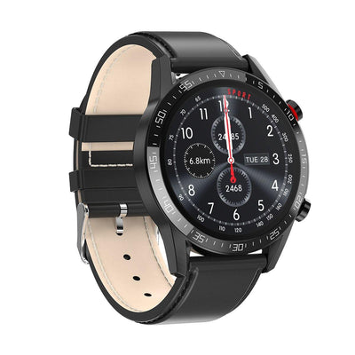 Microwear L13 Fitness/Smartwatch - Black Leather