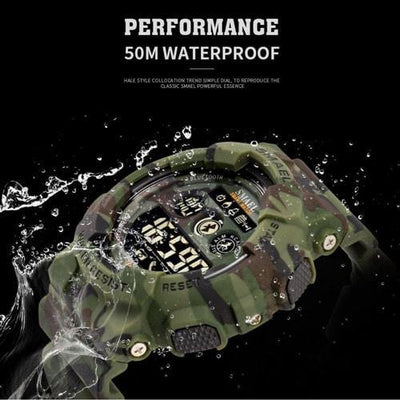 Smael Camouflage Red 8013 Bluetooth Sport Watch-Smael South Africa-Smael South Africa