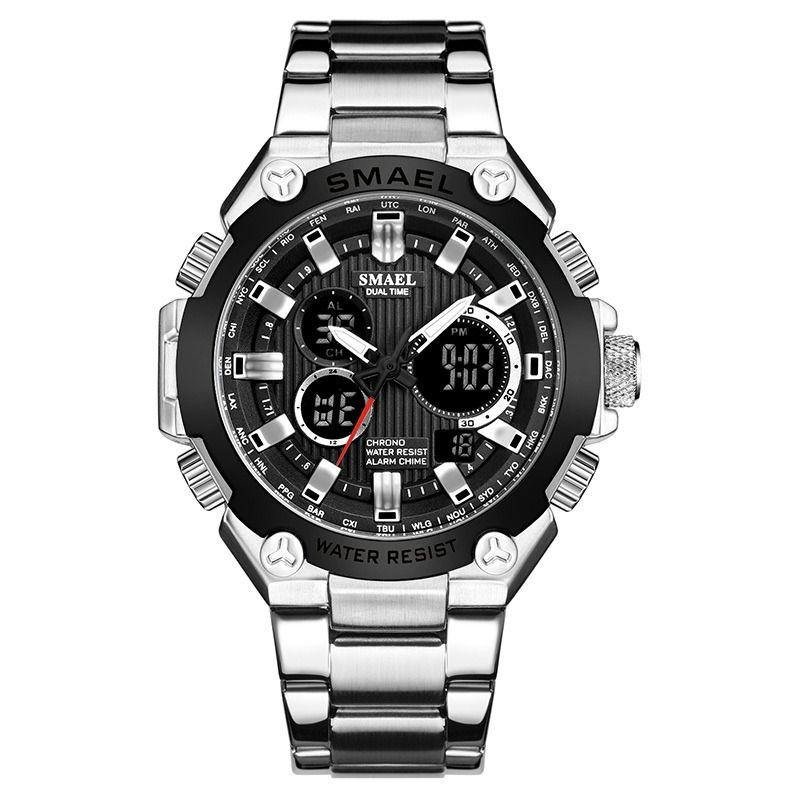 Smael SL-1363 Executive Watch - Silver