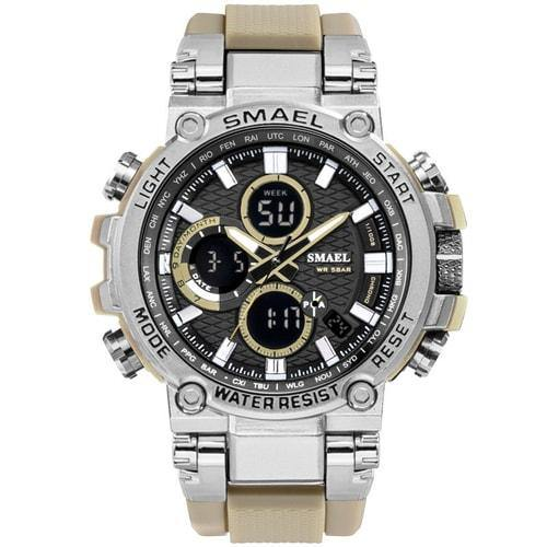 Smael Metal Khaki Chronograph Watch-Smael South Africa-Smael South Africa