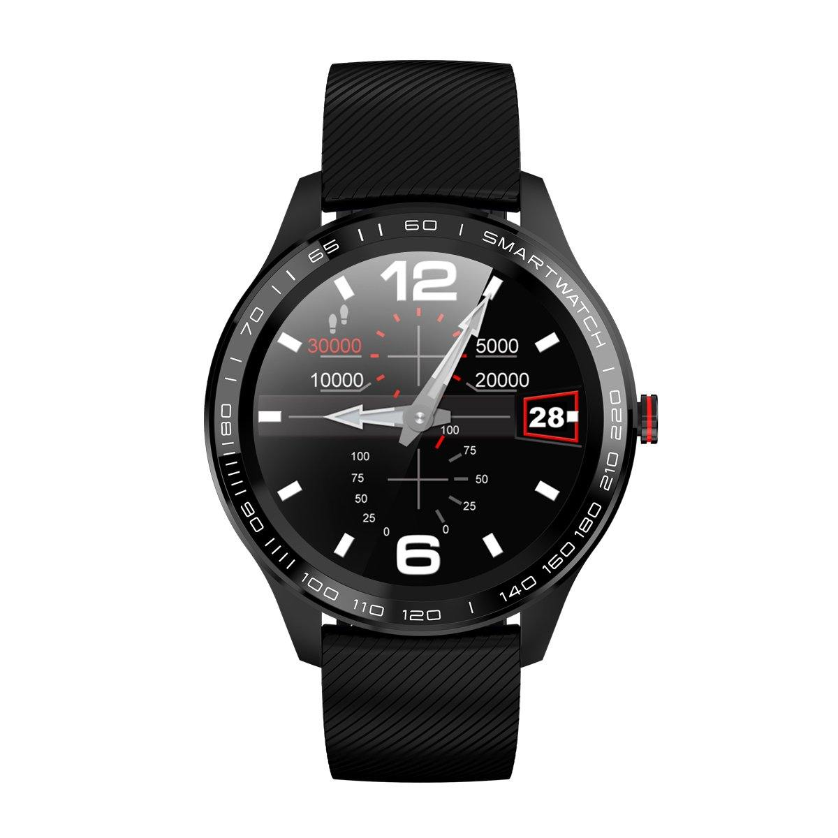 Microwear L9 Fitness/Smartwatch - Black Silicon