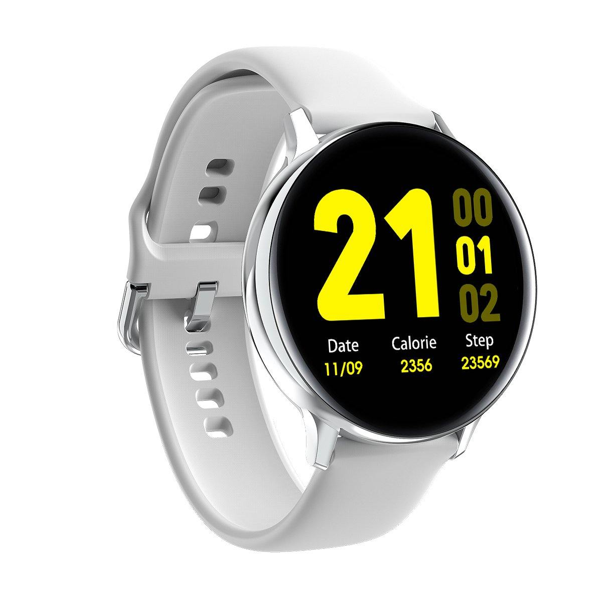 Microwear S20 Fitness/Smartwatch - White Silicon