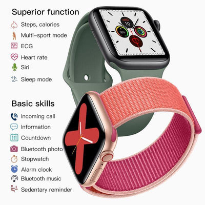 Microwear Watch 5 Fitness/Smartwatch - Pink Silicon