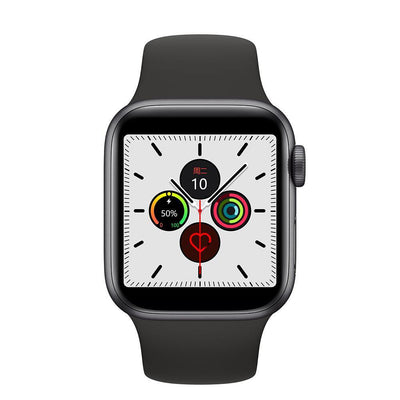 Microwear Watch 5 Fitness/Smartwatch - Black Silicon