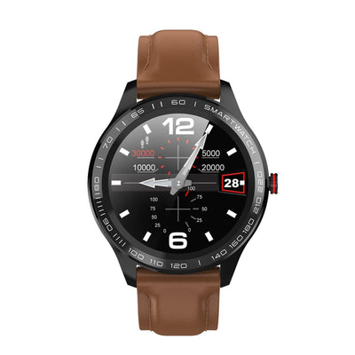 Microwear L9 Fitness/Smartwatch - Brown Leather