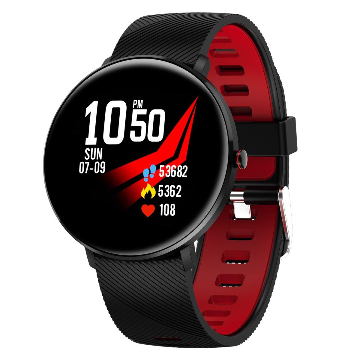 Microwear L10 Fitness/Smartwatch -Red Silicon