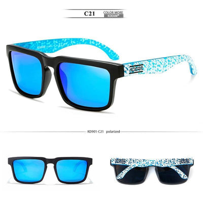 Kdeam KD901 Black/Blue Polarized Sunglasses-Smael South Africa-Smael South Africa