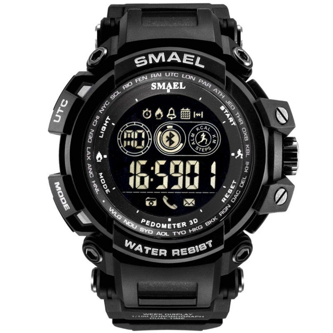 Smael Black 8018 Bluetooth Sport Watch - Smael South Africa