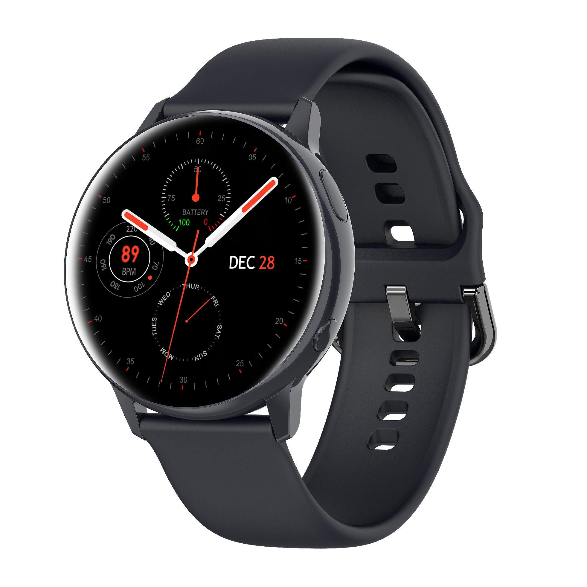 Microwear SG2 Fitness/Smartwatch - Black Silicon
