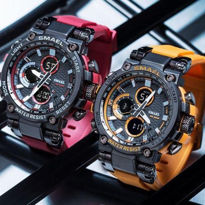 Smael Metal Orange Chronograph Watch-Smael South Africa-Smael South Africa
