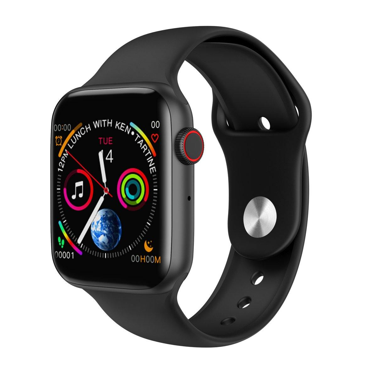 Microwear Watch 4 Fitness/Smartwatch - Black