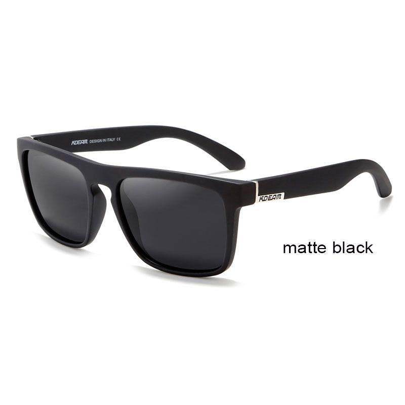 Kdeam KD156 #17 Polarized Sunglasses - Matt Black