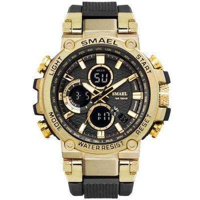 Smael Metal Gold Chronograph Watch-Smael South Africa-Smael South Africa