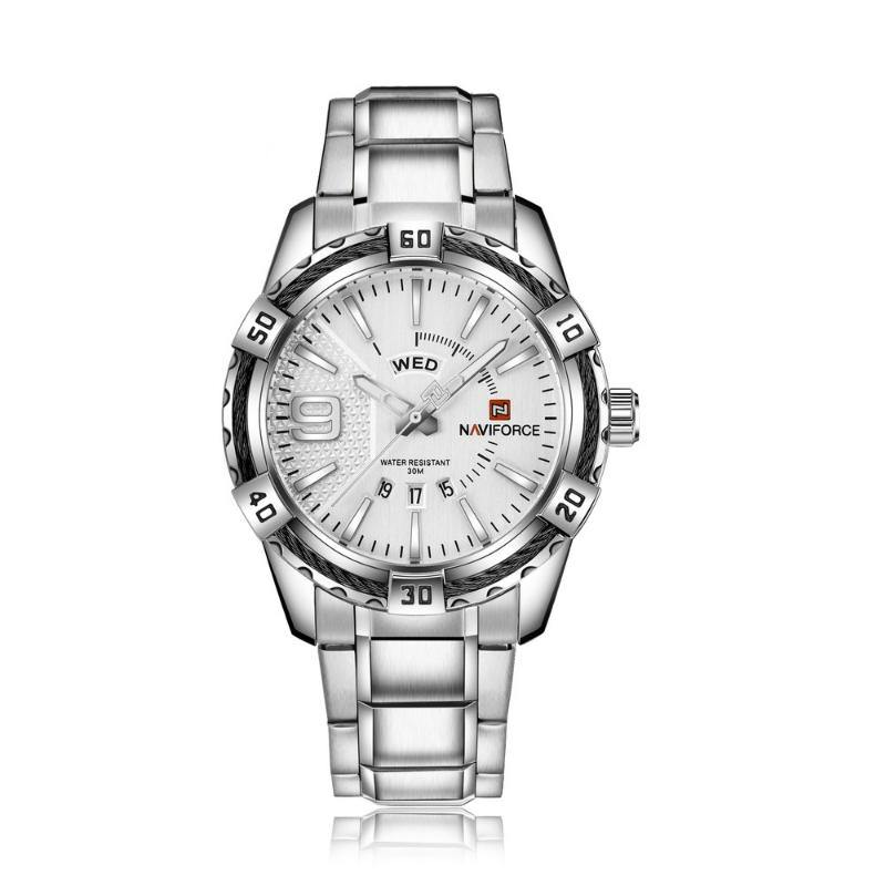NaviForce 9117S Silver Analog Executive Watch-NaviForce South Africa-Smael South Africa