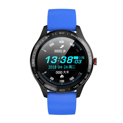 Microwear L9 Fitness/Smartwatch - Blue Silicon