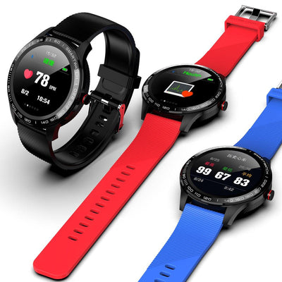 Microwear L9 Fitness/Smartwatch - Red Silicon