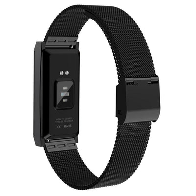 Microwear X11 Smart Fitness Bracelet Watch - Black Mesh