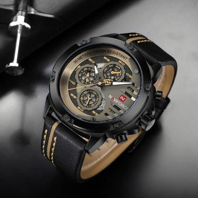 NaviForce 9110 Classic Executive Leather Watch-NaviForce South Africa-Smael South Africa