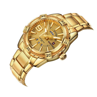 NaviForce 9117S Gold Analog Executive Watch-NaviForce South Africa-Smael South Africa