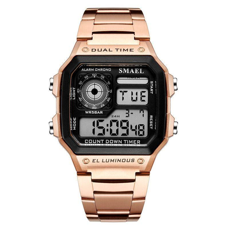 Smael 1818 Retro Style Watch - Rose Gold