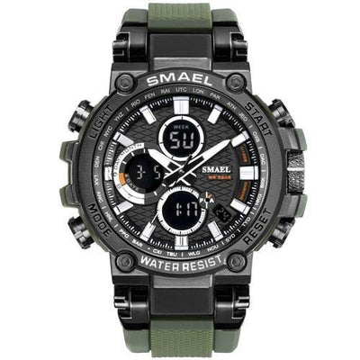 Smael Metal Army Green Chronograph Watch-Smael South Africa-Smael South Africa