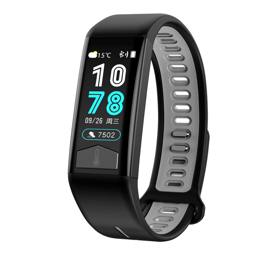 Microwear T02 Smart Fitness Bracelet Watch - Black