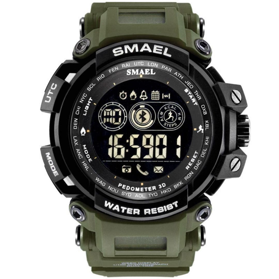 Smael Army Green 8018 Bluetooth Sport Watch - Smael South Africa
