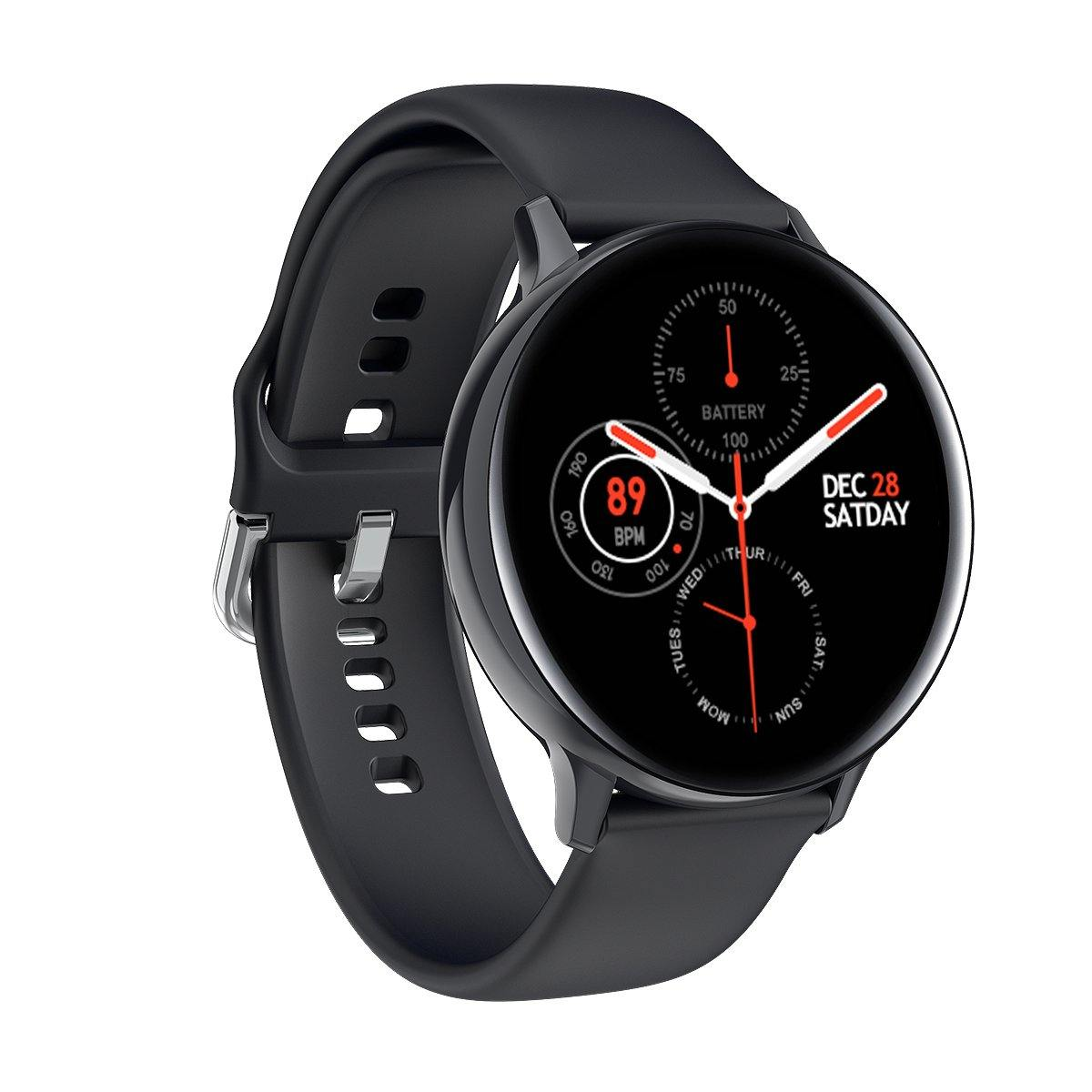 Microwear S20 Fitness/Smartwatch - Black Silicon