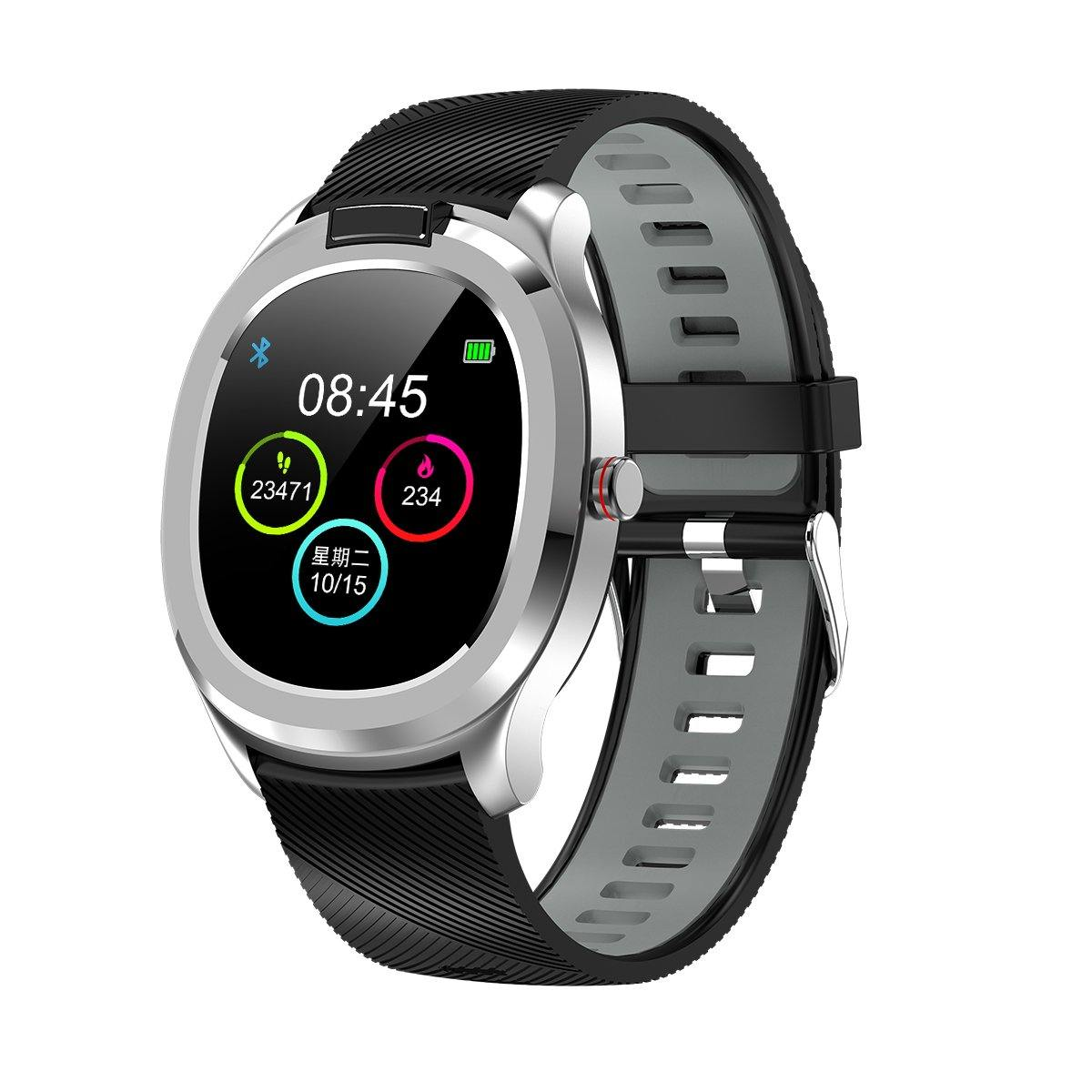 Microwear T01 Fitness/Smartwatch - Black/Grey Silicone - Smael South Africa