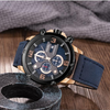 Smael 9082 Leather Watch - Blue