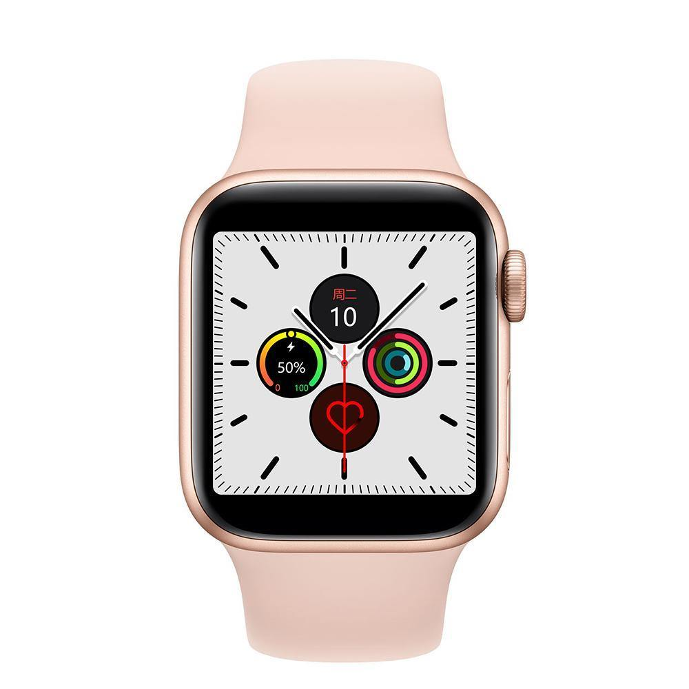 Microwear Watch 7M Fitness/Smartwatch - Rose Gold Silicon