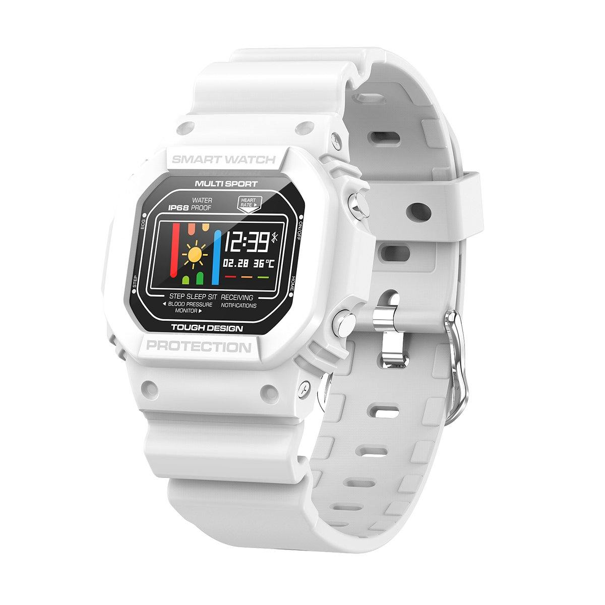 Microwear X12 MULTISPORT TOUCHSCREEN SMARTWATCH - White