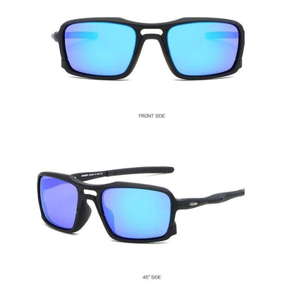 Kdeam KD222 TR90 Cycle Black/Blue Polarized Sunglasses