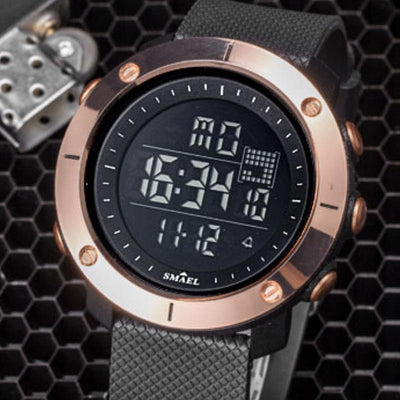 Smael SL1711 Gold Digital Watch-Smael South Africa-Smael South Africa