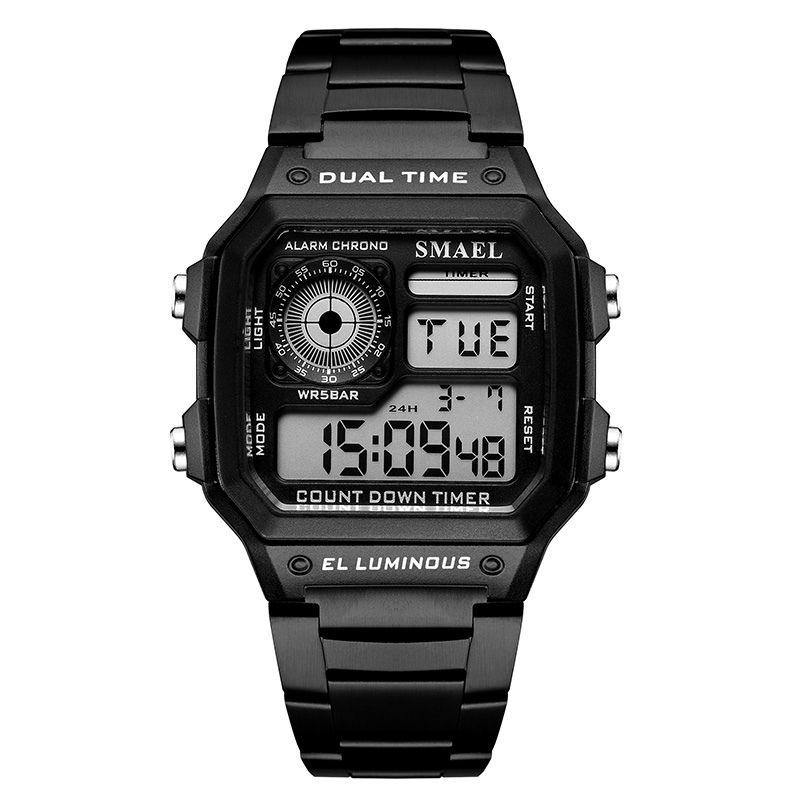 Smael 1818 Retro Style Watch - Black