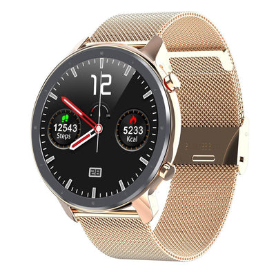Microwear L11 Fitness/Smartwatch - Rose Gold Mesh
