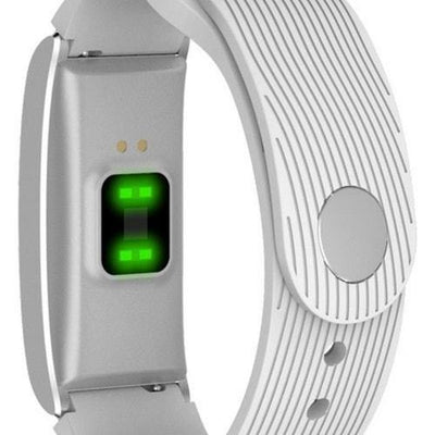Microwear X3 Smart Fitness Bracelet Watch - White Silicon