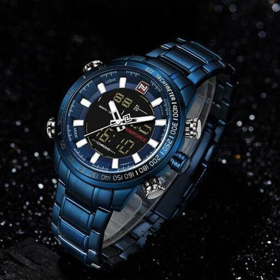 NaviForce 9093 Blue Digital/Analog Executive Watch-NaviForce South Africa-Smael South Africa