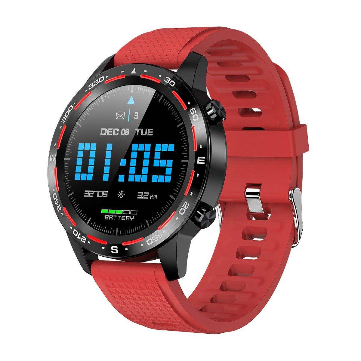 Microwear L12 Fitness/Smartwatch - Red Strap