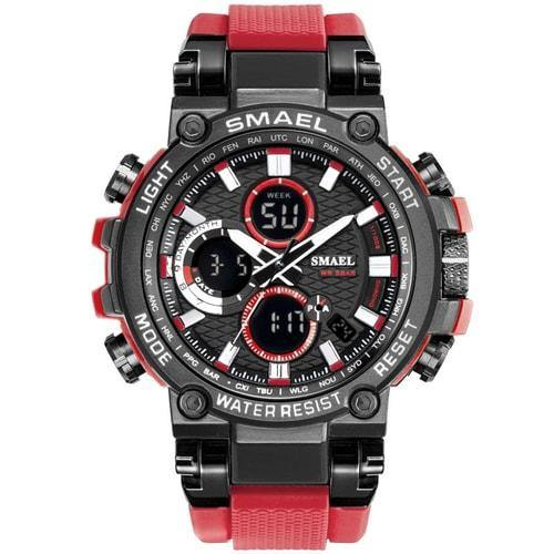 Smael Metal Red Chronograph Watch-Smael South Africa-Smael South Africa
