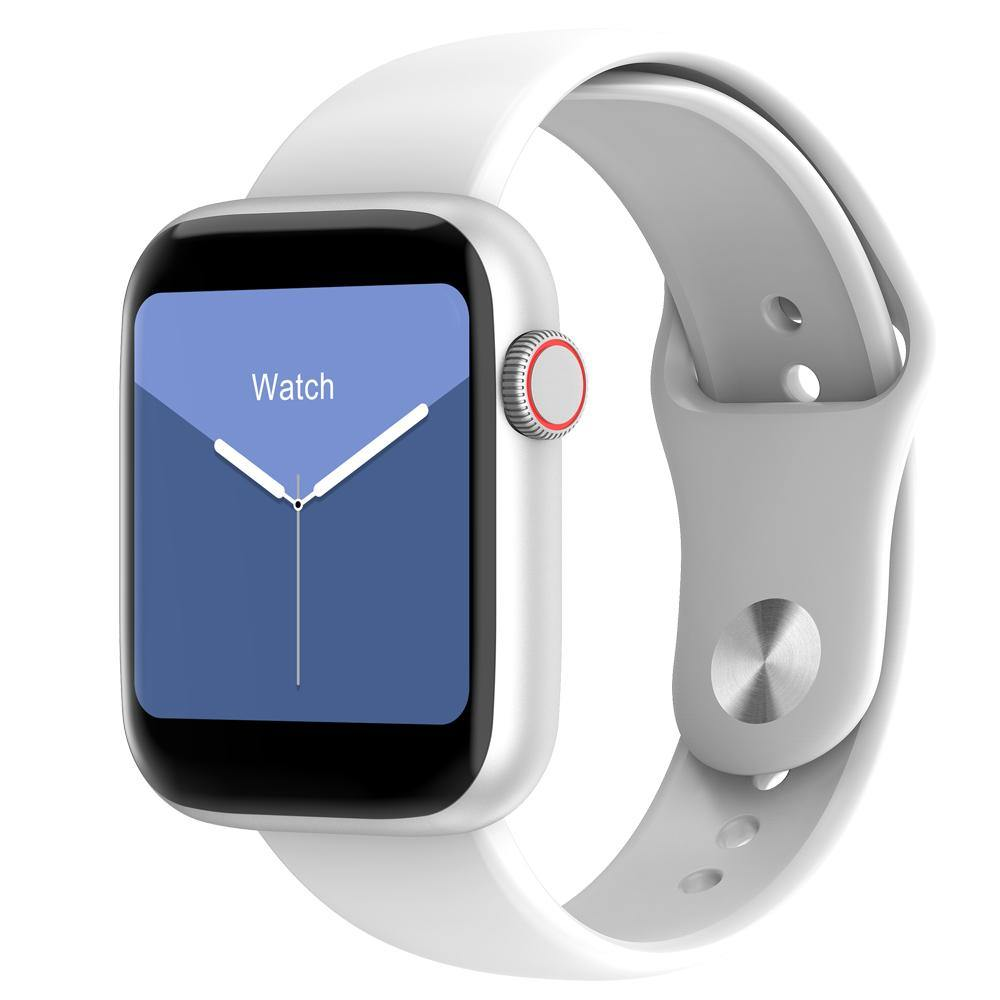 Microwear Watch 7 Fitness/Smartwatch - White Silicon