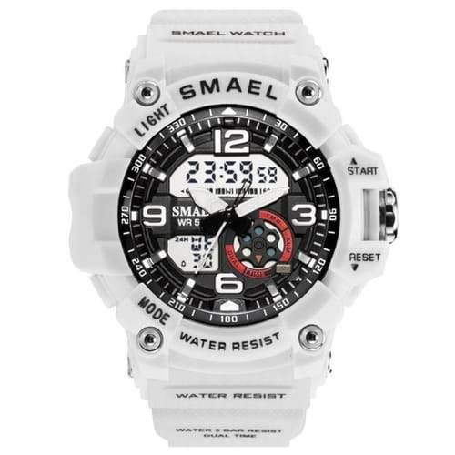Kids Smael White & Black Chronograph Watch-Smael South Africa-Smael South Africa