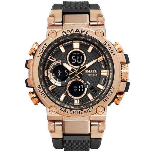 Smael Metal Rose Gold Chronograph Watch-Smael South Africa-Smael South Africa