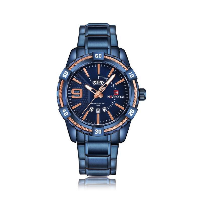 NaviForce 9117S Blue Analog Executive Watch-NaviForce South Africa-Smael South Africa