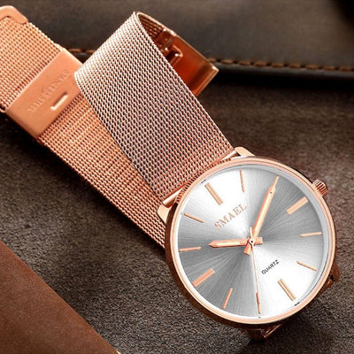 Smael SL1892 Ladies Classic Watch - Rose Gold