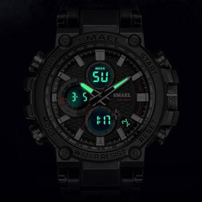 Smael Metal Black & Grey Chronograph Watch-Smael South Africa-Smael South Africa