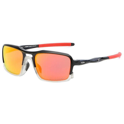 Kdeam KD222 TR90 Cycle Black/Red Polarized Sunglasses
